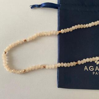 アガタ(AGATHA)のAGATHAピンクゴールドロングネックレス(ネックレス)