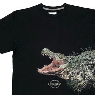 *3591 アニマルプリント クロコダイル Tシャツ