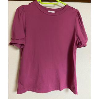 ジーユー(GU)のジーユーTシャツ 半袖 ピンク(Tシャツ(半袖/袖なし))