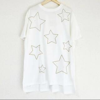 ZARA - 星刺繍が可愛い(๑˃̵ᴗ˂̵)✨‼️ビッグシルエット❤️後ろ丈長めTシャツ