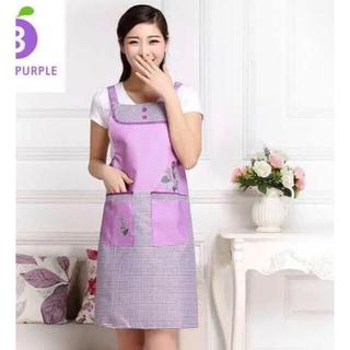 防水エプロン、ワンピースエプロン、lovely エプロン 紫色(その他)