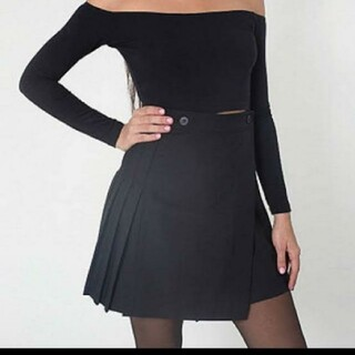 アメリカンアパレル(American Apparel)のアメリカンアパレル スカート ブラック(ミニスカート)