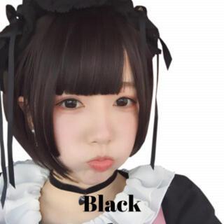 216 フルウイッグ 前髪 ストレート ボブ ショート 黒髪 ブラック おしゃれ(ショートストレート)