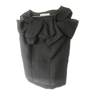 マルニ(Marni)のMARNI|フリル装飾ブラウス(シャツ/ブラウス(半袖/袖なし))