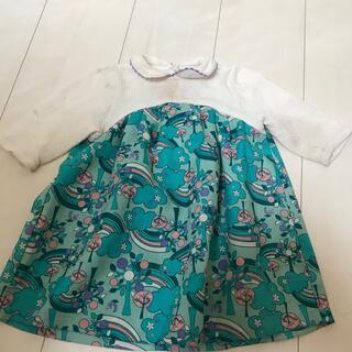 アナスイミニ(ANNA SUI mini)のANNA SUI miniワンピース 80サイズ ブルー系 夏用(ワンピース)