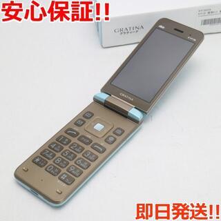 キョウセラ(京セラ)の超美品 KYF39 GRATINA ライトブルー(薄水色) (携帯電話本体)
