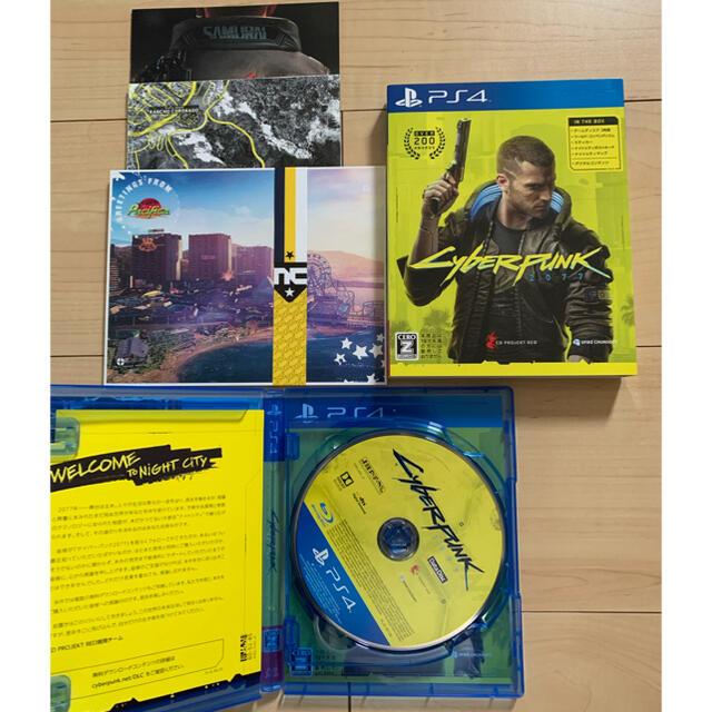 PlayStation4(プレイステーション4)の【美品】PS4 サイバーパンク2077 エンタメ/ホビーのゲームソフト/ゲーム機本体(家庭用ゲームソフト)の商品写真