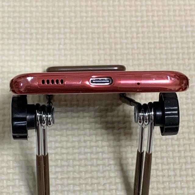 Galaxy(ギャラクシー)の新品同様SIMフリーdocomo Galaxy A21 SC-42A レッド スマホ/家電/カメラのスマートフォン/携帯電話(スマートフォン本体)の商品写真