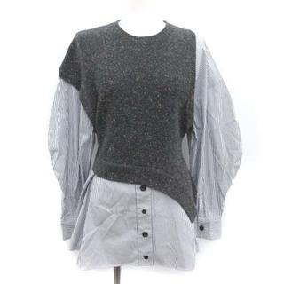 ENFOLD - エンフォルド 19AW シャツ ニット セーター 長袖 38 M グレー