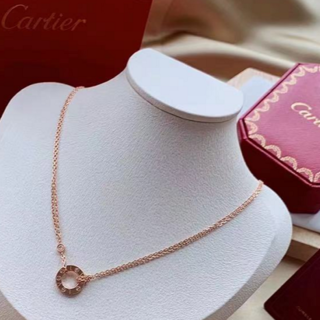 Cartier - エレガント♪Cartier LOVE NECKLACE, 2 DIAMONDS