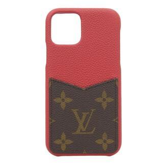 ルイヴィトン(LOUIS VUITTON)のヴィトン モノグラム IPHONE バンパー11PRO スカーレッド (iPhoneケース)