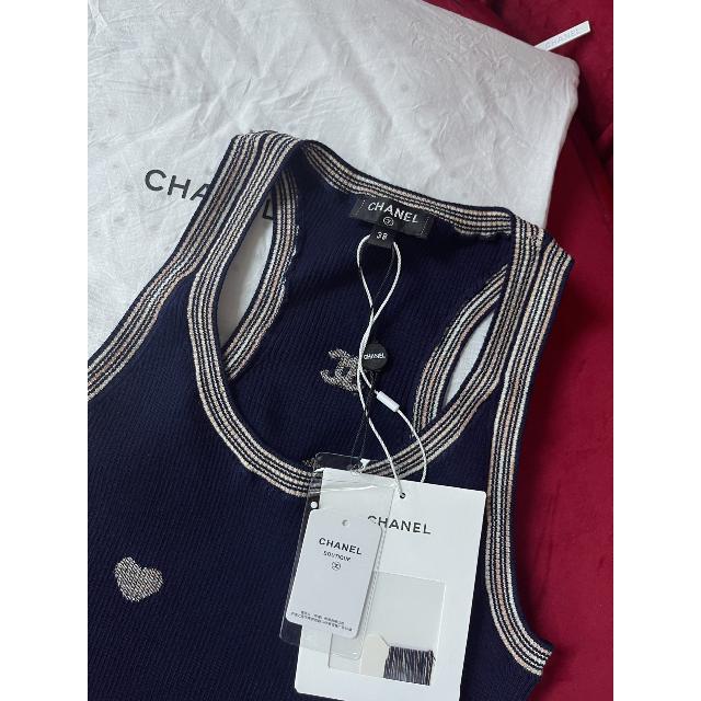 CHANEL(シャネル)の【新作】CHANEL シンプル トップス   コットン レディースのトップス(ニット/セーター)の商品写真