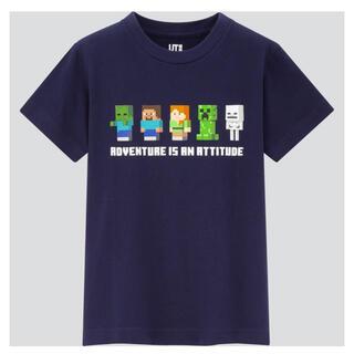 UNIQLO - 新品 マイクラ Tシャツ ユニクロ 160 ネイビー
