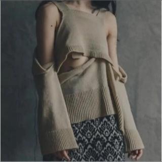 STUDIOUS - yukishimane   Fallen Skin ニット ベージュ