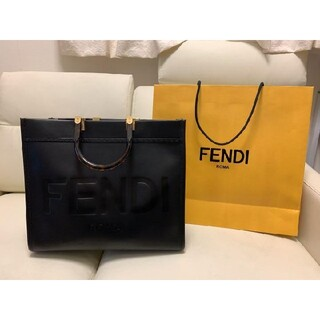 FENDI - FENDI サンシャインミディアム トートバッグ ブラック