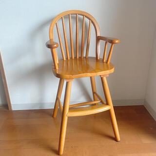 アクタス(ACTUS)のかなり美品 ベビーチェア アンティーク ハイチェア ウィンザーチェア 椅子(ダイニングチェア)