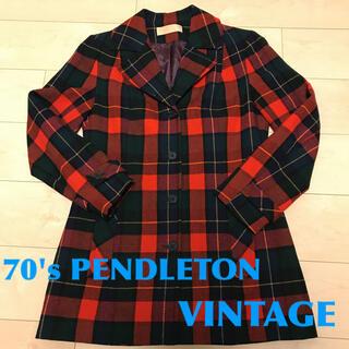 ペンドルトン(PENDLETON)のペンドルトン ヴィンテージ タータンチェックウールジャケット アメリカ製(テーラードジャケット)
