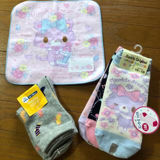 サンリオ - 【新品】靴下4点 タビオ、Sanrio original、ハンカチ