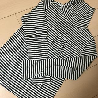 ジーユー(GU)のタートルネックしましまTシャツ(Tシャツ(長袖/七分))