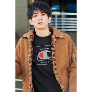 COACH - 完売品!限定品!COACH X CHAMPION ロゴ Tシャツ 黒 XSサイズ