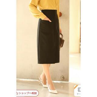 セゾンドパピヨン セミタイトスカート Mサイズブラック