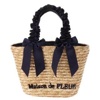 Maison de FLEUR - メゾンドフルール フリルハンドルダブルリボンかごバッグ