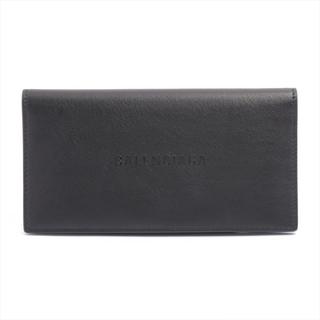 バレンシアガ(Balenciaga)のバレンシアガ  レザー  ブラック メンズ 長財布(長財布)