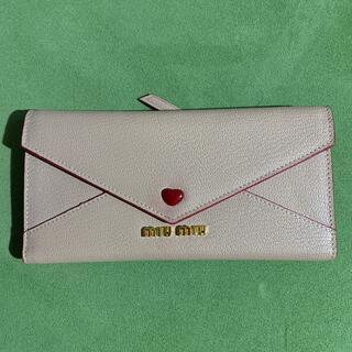 miumiu -  miu miu  ラブレター ウォレット 財布