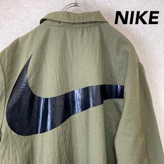 ナイキ(NIKE)のナイキ ナイロンジャケット カーキ レアカラー 古着 メンズ レディース M(ナイロンジャケット)