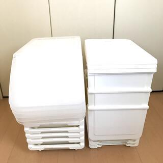 ニトリ - Nフラッテ ハーフサイズ9個セット 収納ケース 衣装ケース ニトリ ホワイト