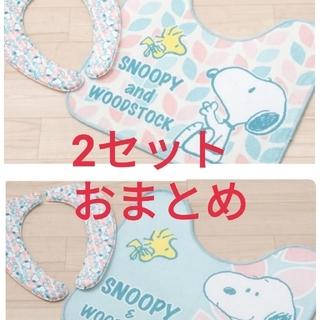 スヌーピー(SNOOPY)の新品 SNOOPY トイレマット クッション便座 セット おまとめ2セット!(トイレマット)