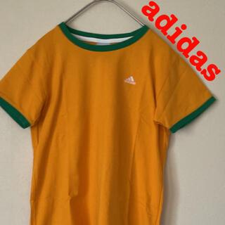 adidas - adidas アディダス ワンポイント 刺繍ロゴ Tシャツ