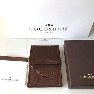 ココシュニック(COCOSHNIK)のココシュニック COCOSHNIK 10K サークルダイヤモンドネックレス YG(ネックレス)