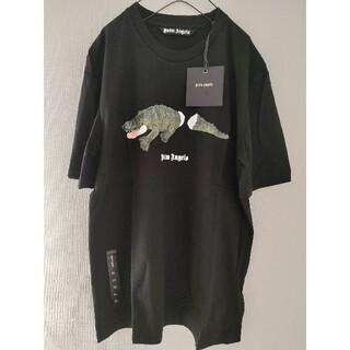 パーム(PALM)の未使用 Palm Angels ロゴプリント ワニ柄 Tシャツ(Tシャツ/カットソー(半袖/袖なし))