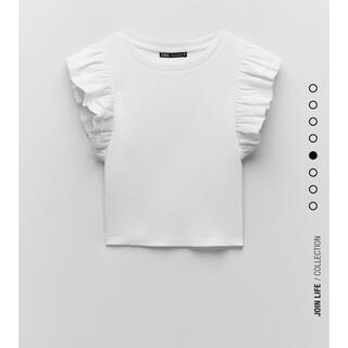 ZARA ザラ 新品未使用 フリル付きTシャツ