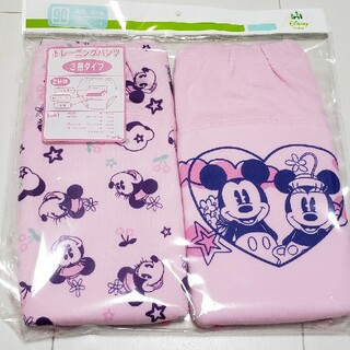 ミニーマウス(ミニーマウス)の新品未開封ミニーマウス3層2枚組トレーニングパンツ90センチミニーちゃん(トレーニングパンツ)