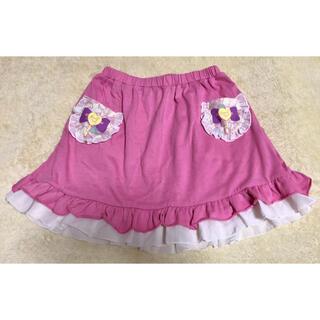 アイカツ(アイカツ!)のアイカツ フリルスカート 140cm  ピンク 女の子 女児 キッズ 可愛い(スカート)