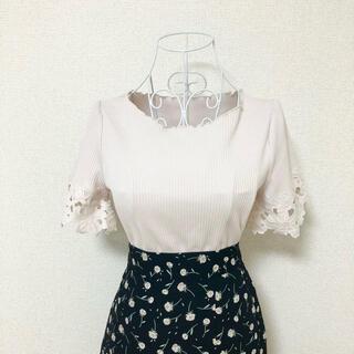 PROPORTION BODY DRESSING - proportion body dressing フラワー刺繍 リブニット S