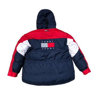 TOMMY HILFIGER - 90s 美品 Tommy Jeans フラッグロゴ ダウンジャケット