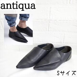 antiqua - アンティカ antiqua フラットシューズ  ポインテッドトゥ
