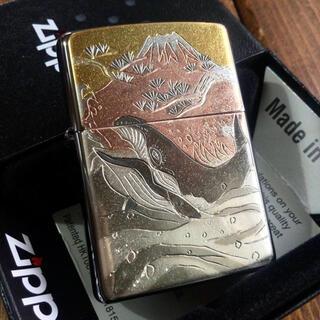 ジッポー(ZIPPO)の新品 Zippo 電鋳板 鯨 ジッポー(タバコグッズ)