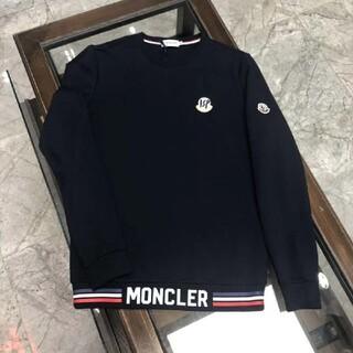 MONCLER - 高品質美品モンクレール MONCLERトレーナー/ネイビー