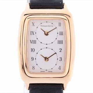 Tiffany & Co. - ティファニー 2タイムゾーン 750×革   レディース 腕時計