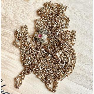 ドゥロワー(Drawer)のファイナルセール アンティーク ヴィクトリアン ロングネックレス ゴールド(ネックレス)