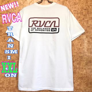 ルーカ(RVCA)のビッグサイズ ☆ RVCA トランスミッション Tシャツ 白 XXL(Tシャツ/カットソー(半袖/袖なし))
