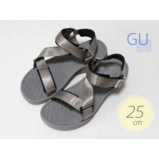 ジーユー(GU)のGU ジーユー スポーツサンダル STUDIO SEVEN/グレー/25cm(サンダル)