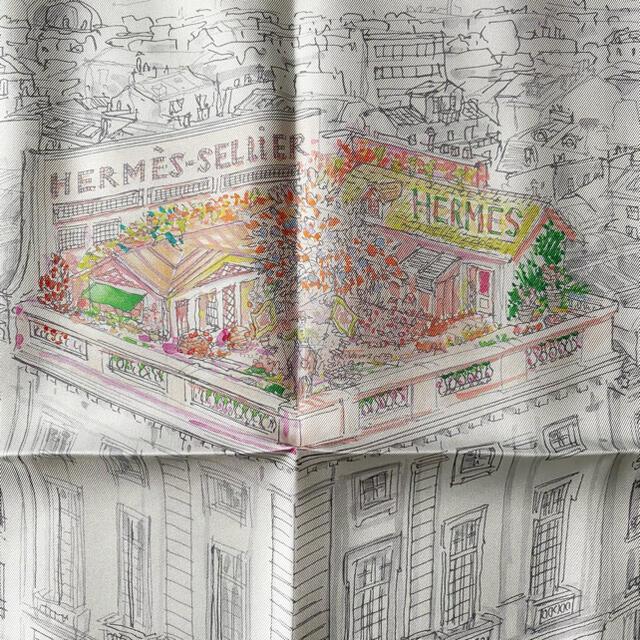 Hermes(エルメス)のHERMES ガヴロッシュ 屋根の上の庭 レディースのファッション小物(バンダナ/スカーフ)の商品写真
