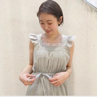 フラワー(flower)のflower feather frill op 新品(ロングワンピース/マキシワンピース)