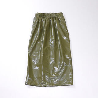 HYKE - HYKE【LAMINATED SHIRRED SKIRT】