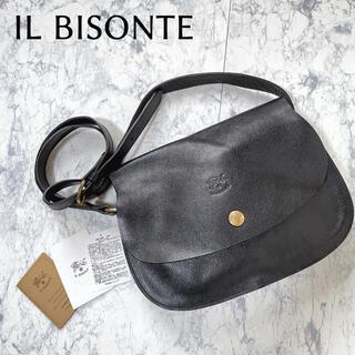イルビゾンテ(IL BISONTE)のイルビゾンテ ショルダーバッグ レザー ブラック ブランドロゴ(ショルダーバッグ)